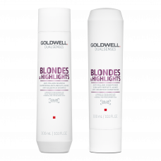 Goldwell Dualsenses Blondes & Highlights Anti-Yellow Shampoo & Conditioner 300ml